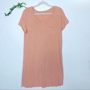 New Directions Studio T-Shirt Dress Peach Pink